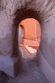 Doorways in mission church, Pecos National Historical Park, near Santa Fe, New Mexico