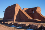 Pueblo and mission at Pecos National Historical Park, near Santa Fe, New Mexico