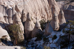 Hoodoos at the north end of the slot canyon in Kasha-Katuwe Tent Rocks National Monument, New Mexico