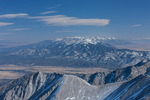 Lencticular clouds over the Sangre de Cristo Range from the summit of 14,269-foot Mt. Antero, San Isabel National Forest, Colorado
