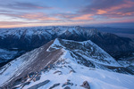 Mt. Princeton at sunset from the summit of 14,269-foot Mt. Antero, San Isabel National Forest, Colorado