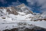 14,197-foot Crestone Needle after an April snowstorm, Sangre de Cristo Wilderness, Colorado