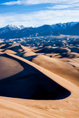 Sand dunes and the Sangre de Cristo Range from Star Dune, Great Sand Dunes National Park, Colorado