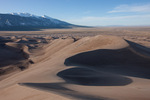 California Peak and Twin Peaks from Star Dune, Great Sand Dunes National Park, Colorado
