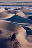 Sculpted sand dunes from Star Dune, Great Sand Dunes National Park, Colorado