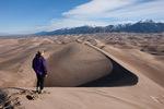 Glenn Randall atop Star Dune, Great Sand Dunes National Park, Colorado