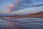 Medano Creek at sunrise, Great Sand Dunes National Park, Colorado