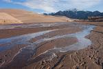 Mt. Herrad and Medano Creek, Great Sand Dunes National Park, Colorado