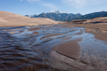 Mt. Herrad and Medano Creek, Great Sand Dunes National Park, Colorado
