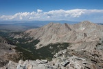 The valley of South Zapata Creek from the summit of 14,042-foot Ellingwood Peak, Sangre de Cristo Wilderness, Colorado
