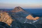 Mt. Lindsey from the summit of 14,042-foot Ellingwood Peak at sunset, Sangre de Cristo Wilderness, Colorado