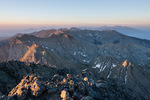 Looking south from the summit of 14,197-foot Crestone Needle at sunrise, Sangre de Cristo Wilderness, Colorado