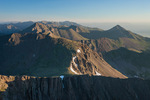 Looking north from the summit of 14,197-foot Crestone Needle at sunrise, Sangre de Cristo Wilderness, Colorado