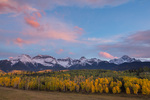 Clearing storm over the Sneffels Range at sunset, San Juan Mountains, Colorado