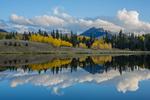 Beaver Lake and aspen, near Silver Jack Reservoir, San Juan Mountains, Colorado