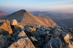 14,270-foot Grays peak from the summit of 14,267-foot Torreys Peak at sunset, near Georgetown, Colorado