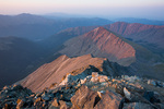 Kelso Mountain from the summit of 14,267-foot Torreys Peak at sunset, near Georgetown, Colorado