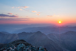 Sunset from the summit of 14,267-foot Torreys Peak, near Georgetown, Colorado