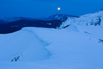 Moonset from Black Face, Lizard Head Wilderness, San Juan  Mountains, Uncompahgre National Forest, Colorado