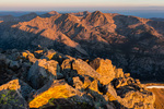Mt. Jackson from the summit of Mount of the Holy Cross at sunrise, Holy Cross Wilderness, Colorado