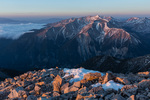 Mt. Antero from the summit of Mt. Princeton at sunrise, San Isabel National Forest, Colorado