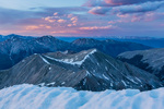 Mt. Hope and Browns Peak from the summit of Huron Peak at sunset, Collegiate Peaks Wilderness, Colorado