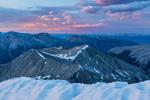 Mt. Hope and Browns Peak from the summit of Huron Peak at sunset, Collegiate Peaks Wilderness, Colorado