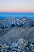 The twilight wedge from the summit of Tabeguache Peak, San Isabel National Forest, Colorado