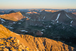 The Sawatch Range at sunrise from the summit of Tabeguache Peak, San Isabel National Forest, Colorado