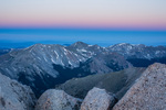 Twilight wedge from the summit of Mt. Shavano, San Isabel National Forest, Colorado