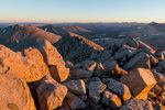 The Sawatch Range from the summit of Mt. Shavano at sunrise, San Isabel National Forest, Colorado
