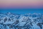 Twilight wedge over the Sawatch Range from the summit of Mt. Massive, Mt. Massive Wilderness, Colorado