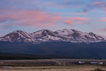 Mt. Massive at sunrise from Highway 24 south of Leadville, Colorado