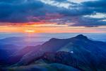 Organ Mountain at sunrise from the summit of San Luis Peak, La Garita Wilderness, Colorado