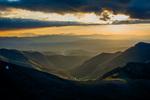 The valley of Stewart Creek at sunrise from the summit of San Luis Peak, La Garita Wilderness, Colorado