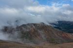 Clouds swirl over the peaks northwest of Sunshine Peak, Redcloud Peak Wilderness Study Area, Colorado