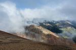 Clouids gather over the peaks west of Redcloud Peak, Redcloud Peak Wilderness Study Area, Colorado