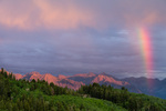 Rainbow near the peaks above Ophir, Uncompahgre National Forest, Colorado