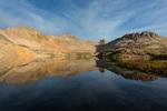 Lookout Peak reflected in Columbine Lake, San Juan National Forest, Colorado