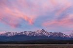 Mt. Elbert at sunrise from Highway 24 south of Leadville, Colorado