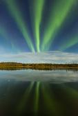 Aurora over Prosperous Lake, Prosperous Lake Territorial Park, along the Ingraham Trail near Yellowknife, Northwest Territory, Canada