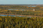 Rater Lake and Vee Lake from Ranney Hill, along the Ingraham Trail near Yellowknife, Northwest Territory, Canada