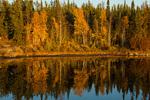 Sunset at David Lake, along the Ingraham Trail near Yellowknife, Northwest Territory, Canada