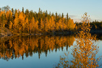 Sunset at David Lake, along the Ingraham Trail near Yellowknife, Northwest Territory, Canada