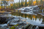 Ramparts Falls, Cameron River Crossing Territorial Park, along the Ingraham Trail near Yellowknife, Northwest Territory, Canada