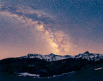 Milky Way over Wolcott Mountain, Mears Peak, and Peak 13,134, Mt. Sneffels Wilderness, Colorado