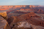 Dead Horse Point and the Colorado River at sunset, Dead Horse Point State Park, Utah