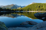 Longs Peak reflected in Bear Lake, Rocky Mountain National Park, Colorado