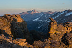 Longs Peak from the Rock Cut at sunset, Rocky Mountain National Park, Colorado