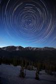 Star trails over the Mummy Range from Trail Ridge Road near Rainbow Curve, Rocky Mountain National Park, Colorado